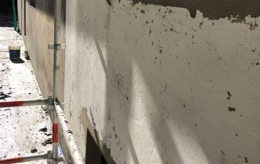 cement rendered exterior wall